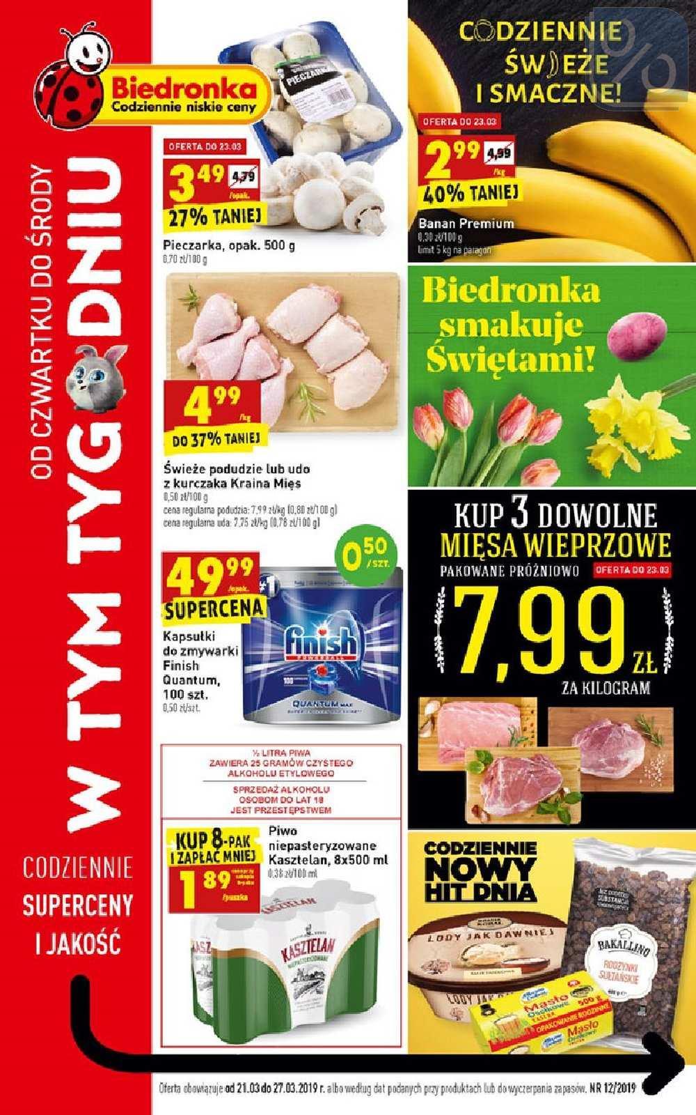 Gazetka promocyjna Biedronka do 27/03/2019 str.0