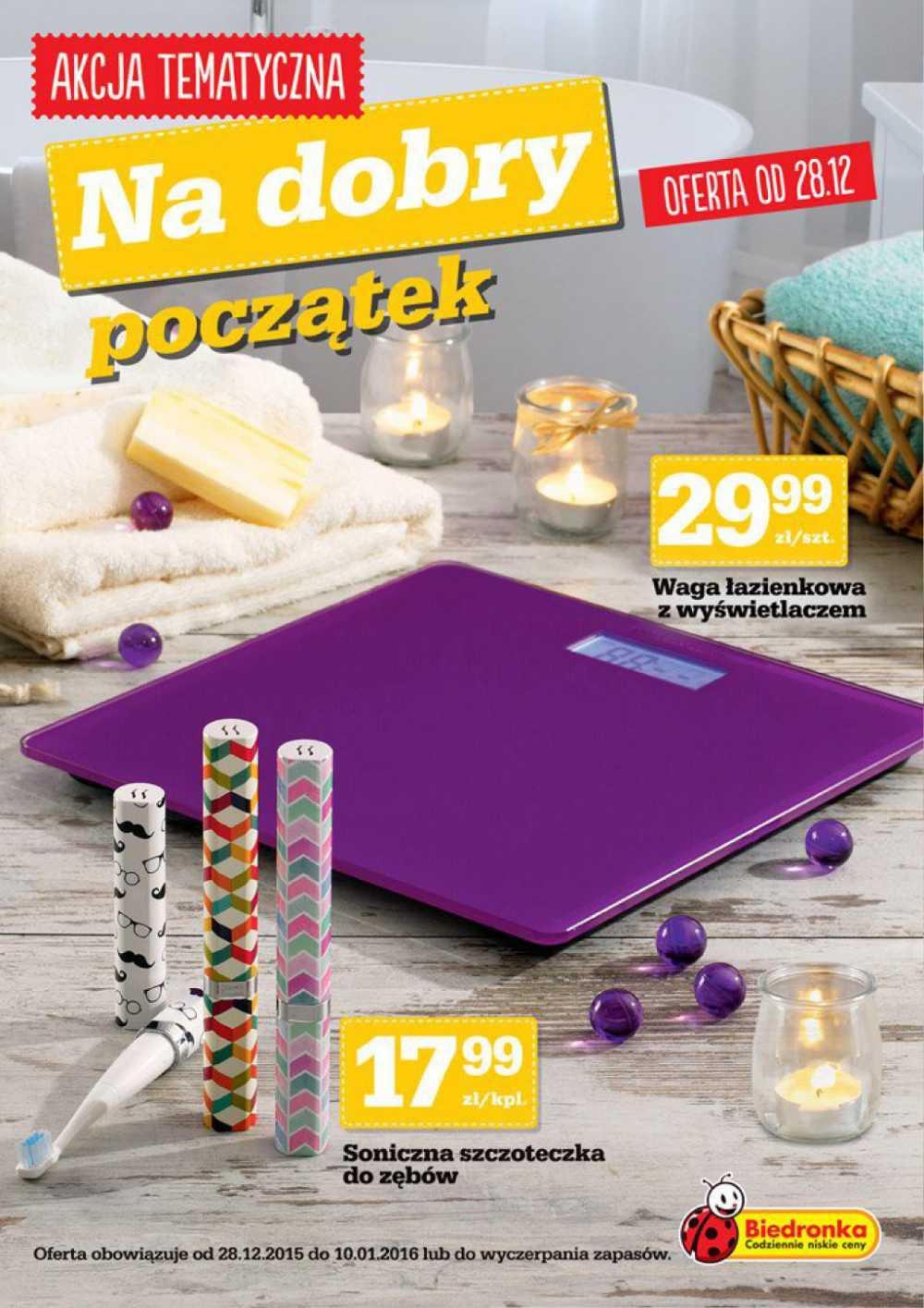 Gazetka promocyjna Biedronka do 10/01/2016 str.0
