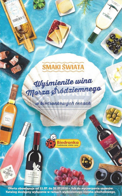 Gazetka promocyjna Biedronka do 31/07/2016 str.0