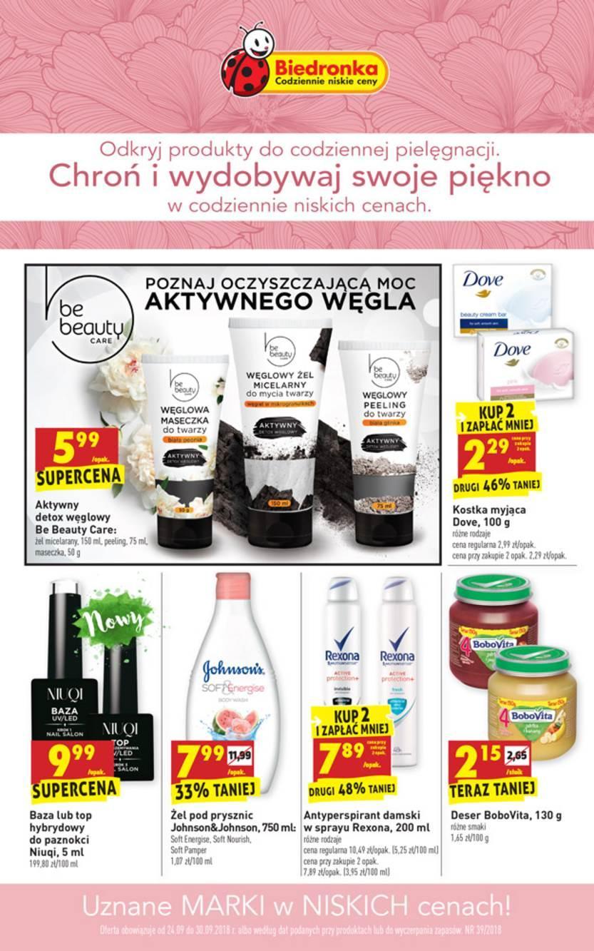 Gazetka promocyjna Biedronka do 30/09/2018 str.0