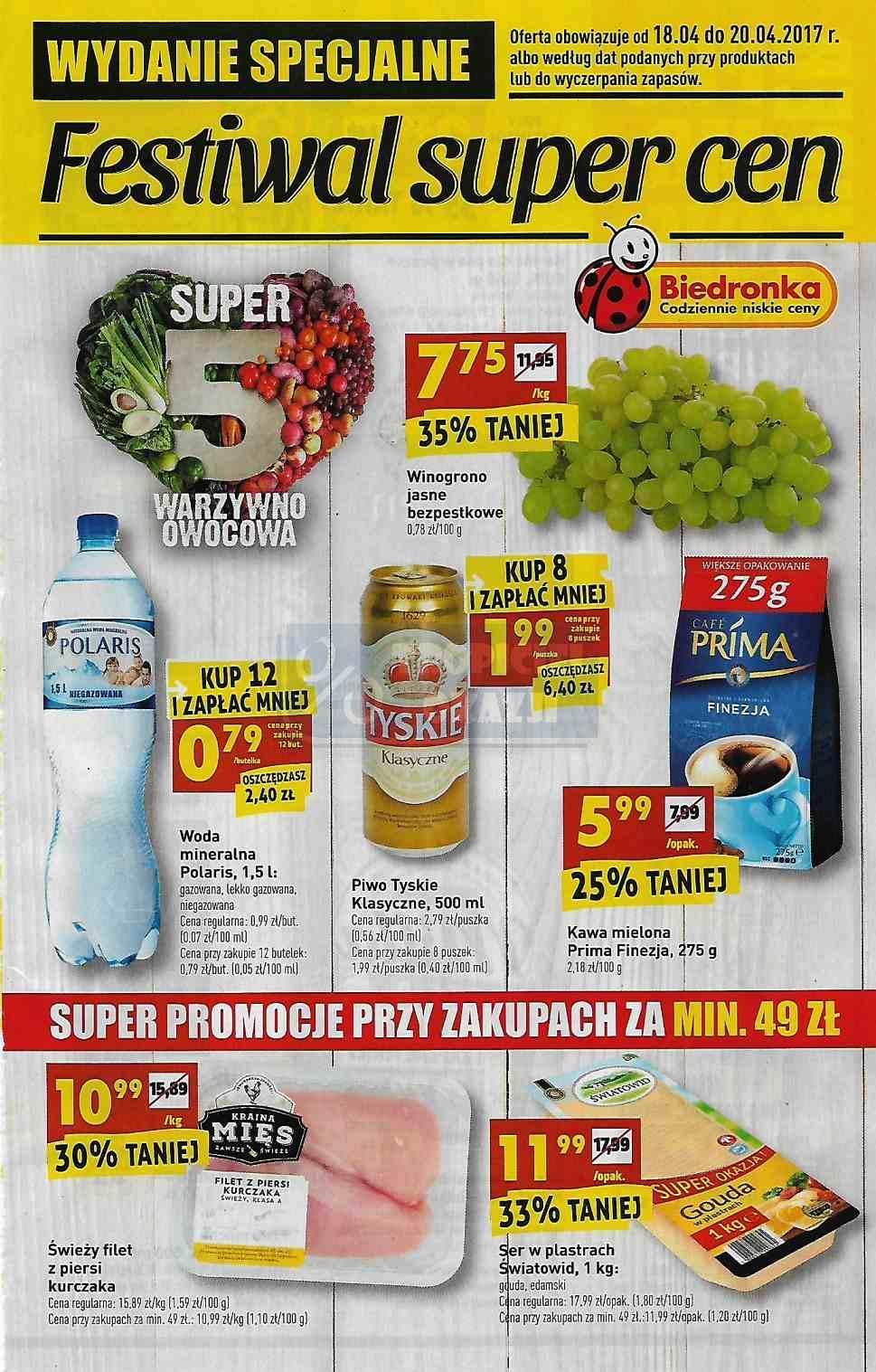 Gazetka promocyjna Biedronka do 20/04/2017 str.0