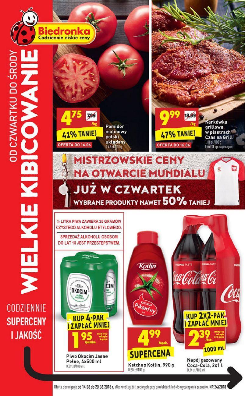 Gazetka promocyjna Biedronka do 20/06/2018 str.1