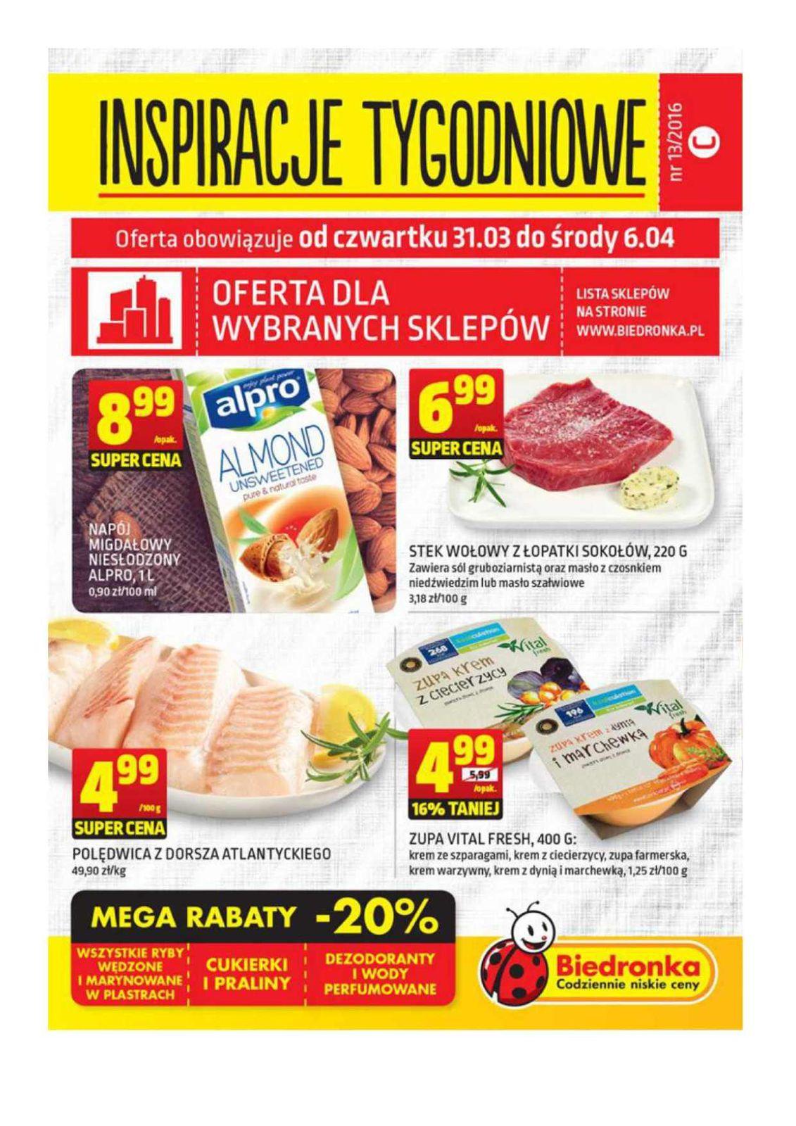 Gazetka promocyjna Biedronka do 06/04/2016 str.0