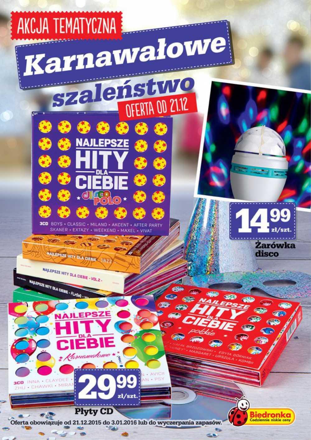 Gazetka promocyjna Biedronka do 03/01/2016 str.0