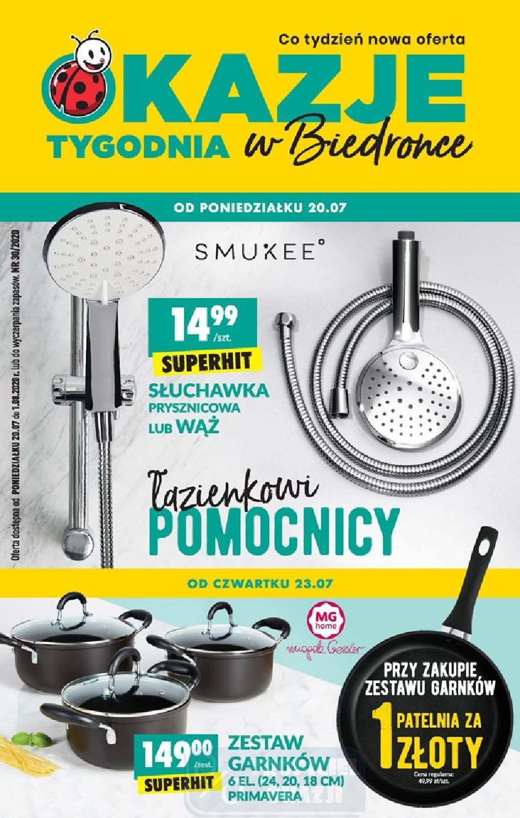 Gazetka promocyjna Biedronka do 26/07/2020 str.0