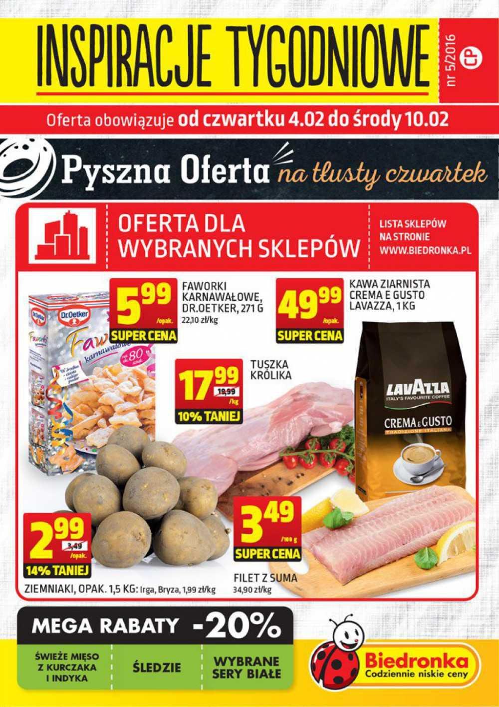 Gazetka promocyjna Biedronka do 10/02/2016 str.0