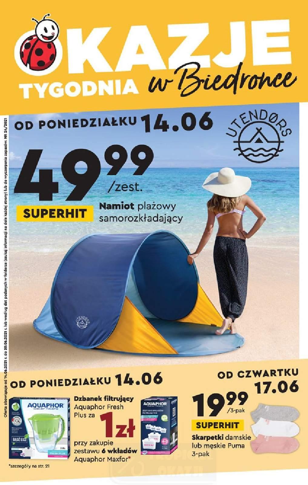 Gazetka promocyjna Biedronka do 30/06/2021 str.1