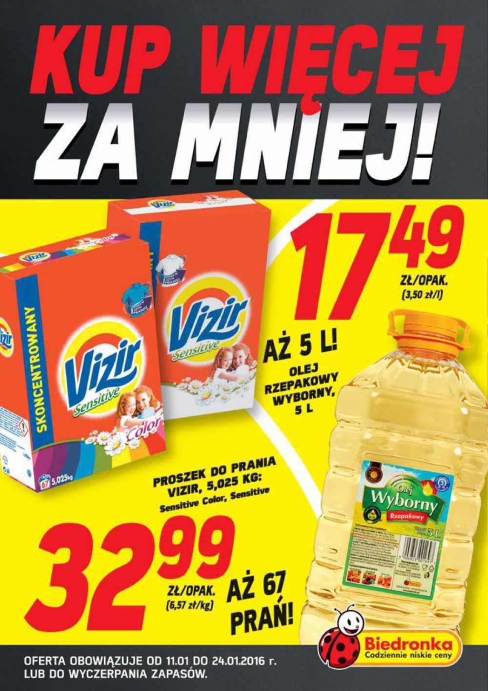 Gazetka promocyjna Biedronka do 24/01/2016 str.0