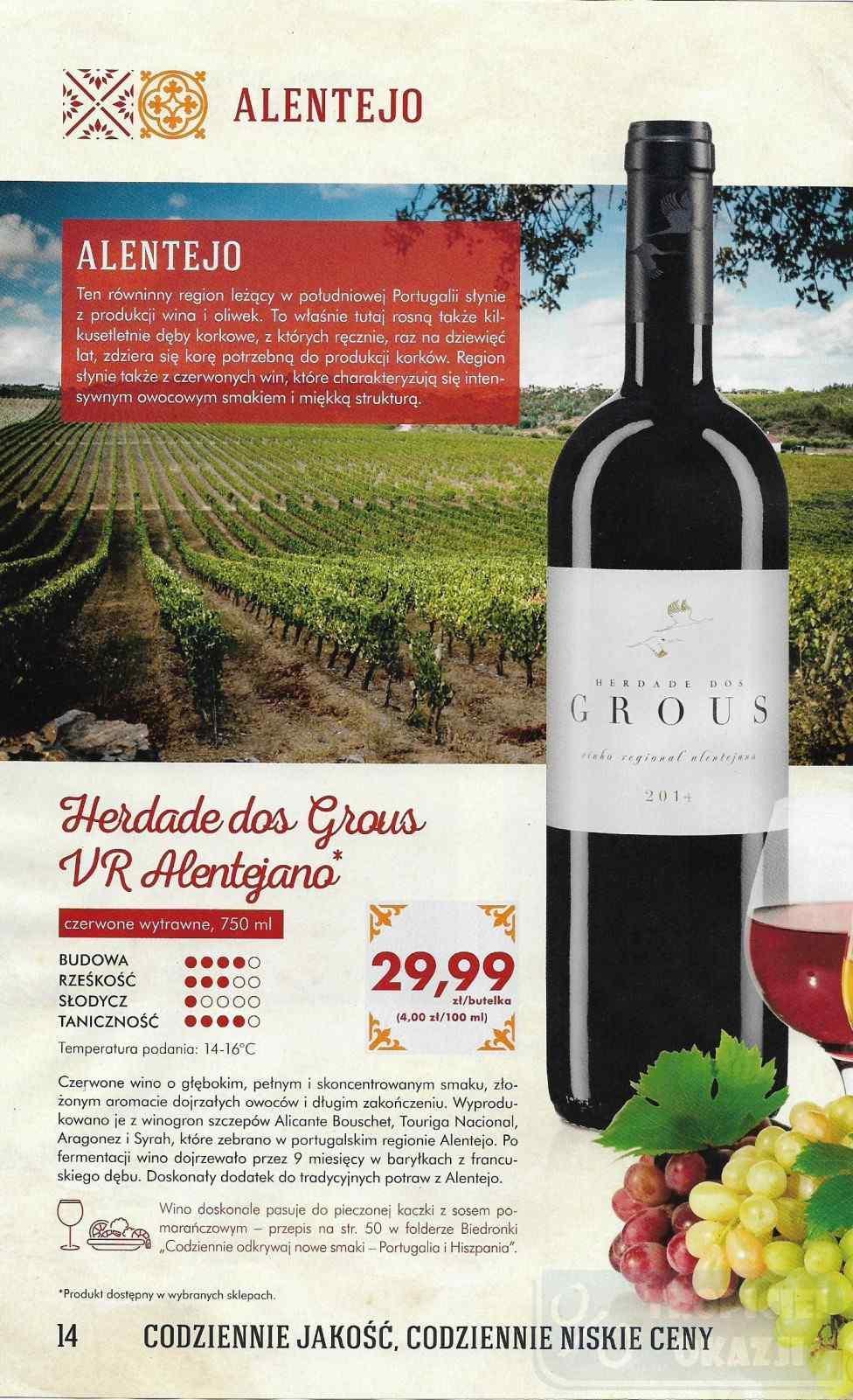 Gazetka Promocyjna I Reklamowa Biedronka Wina Portugalii I
