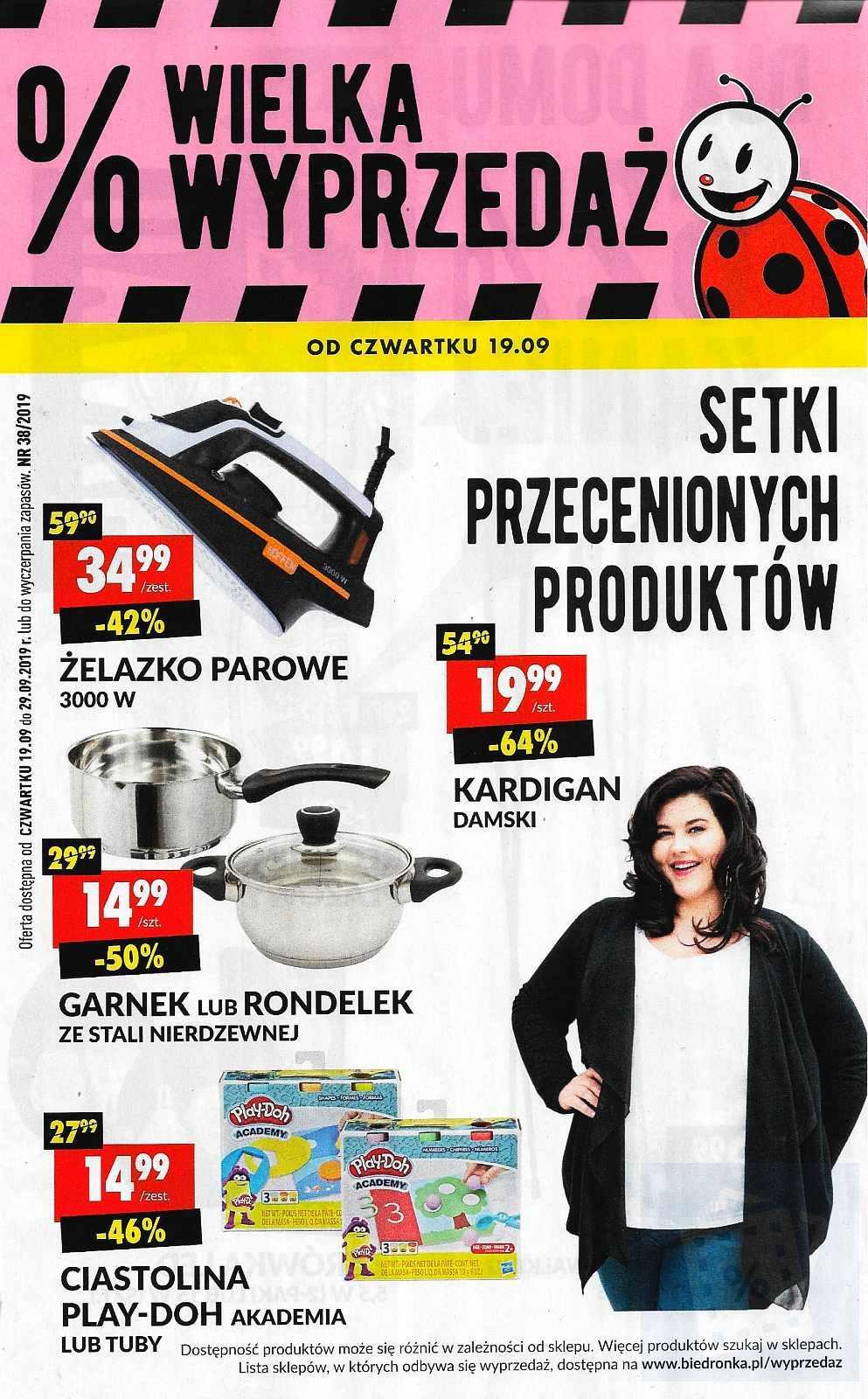 Gazetka promocyjna Biedronka do 29/09/2019 str.0