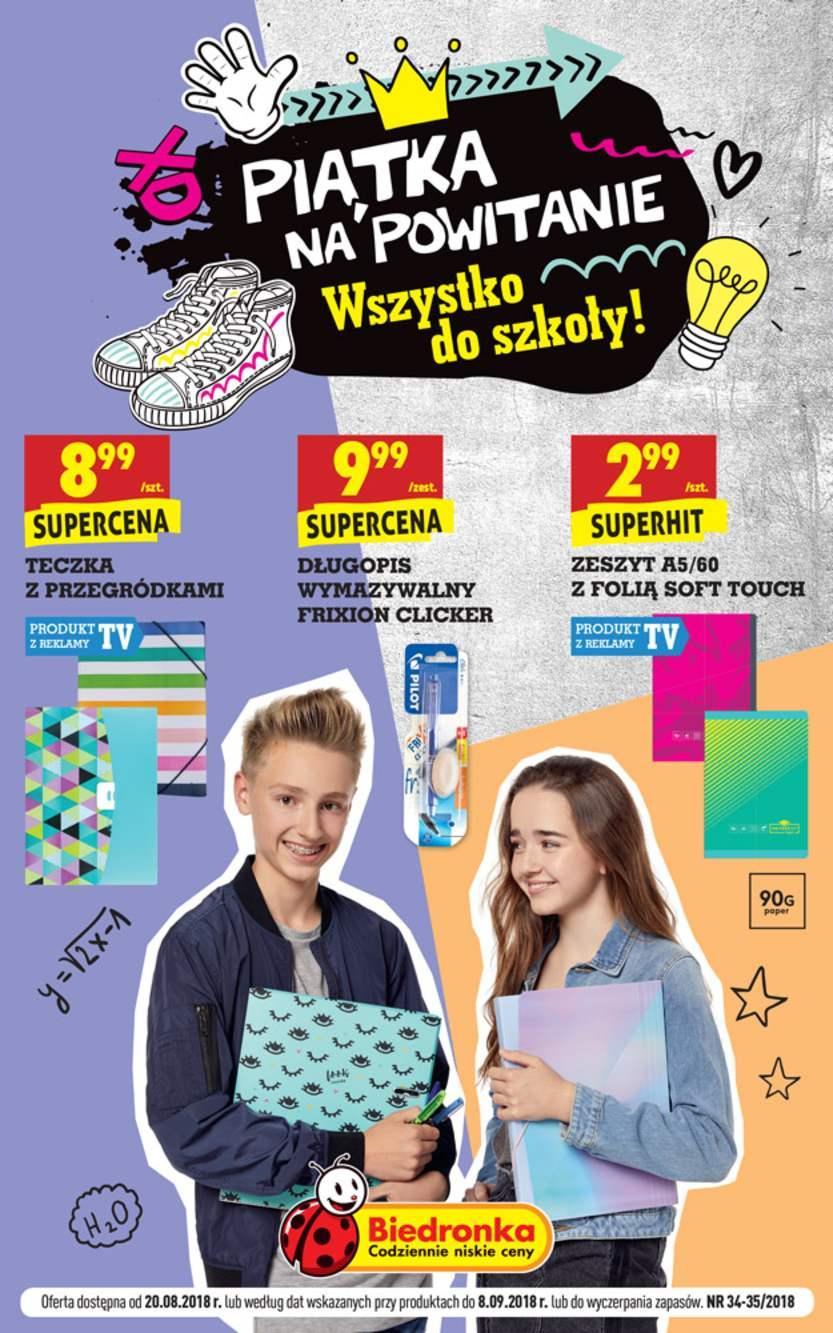 Gazetka promocyjna Biedronka do 08/09/2018 str.0