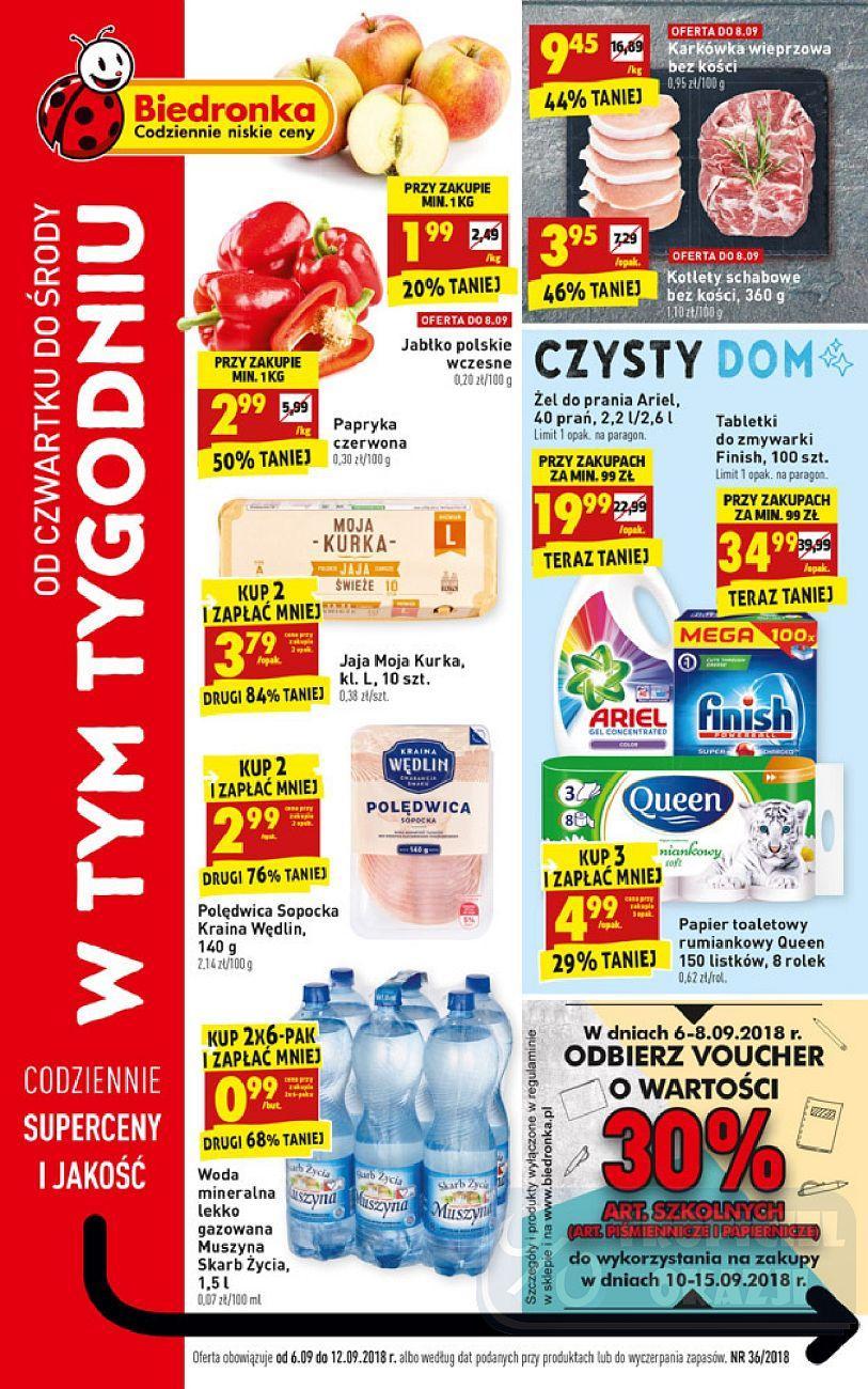 Gazetka promocyjna Biedronka do 12/09/2018 str.0