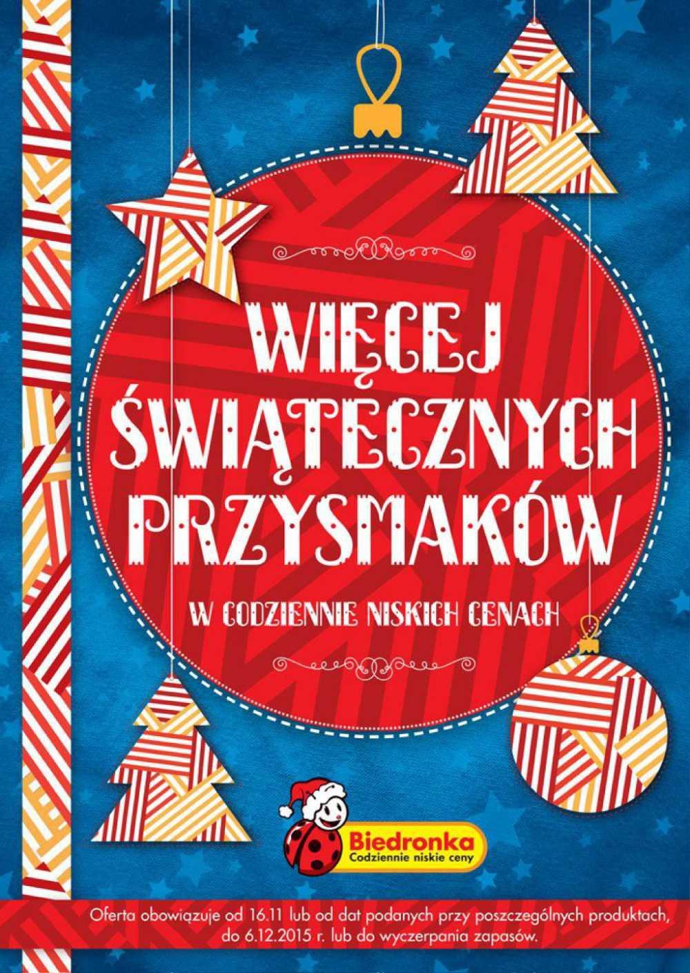 Gazetka promocyjna Biedronka do 06/12/2015 str.0