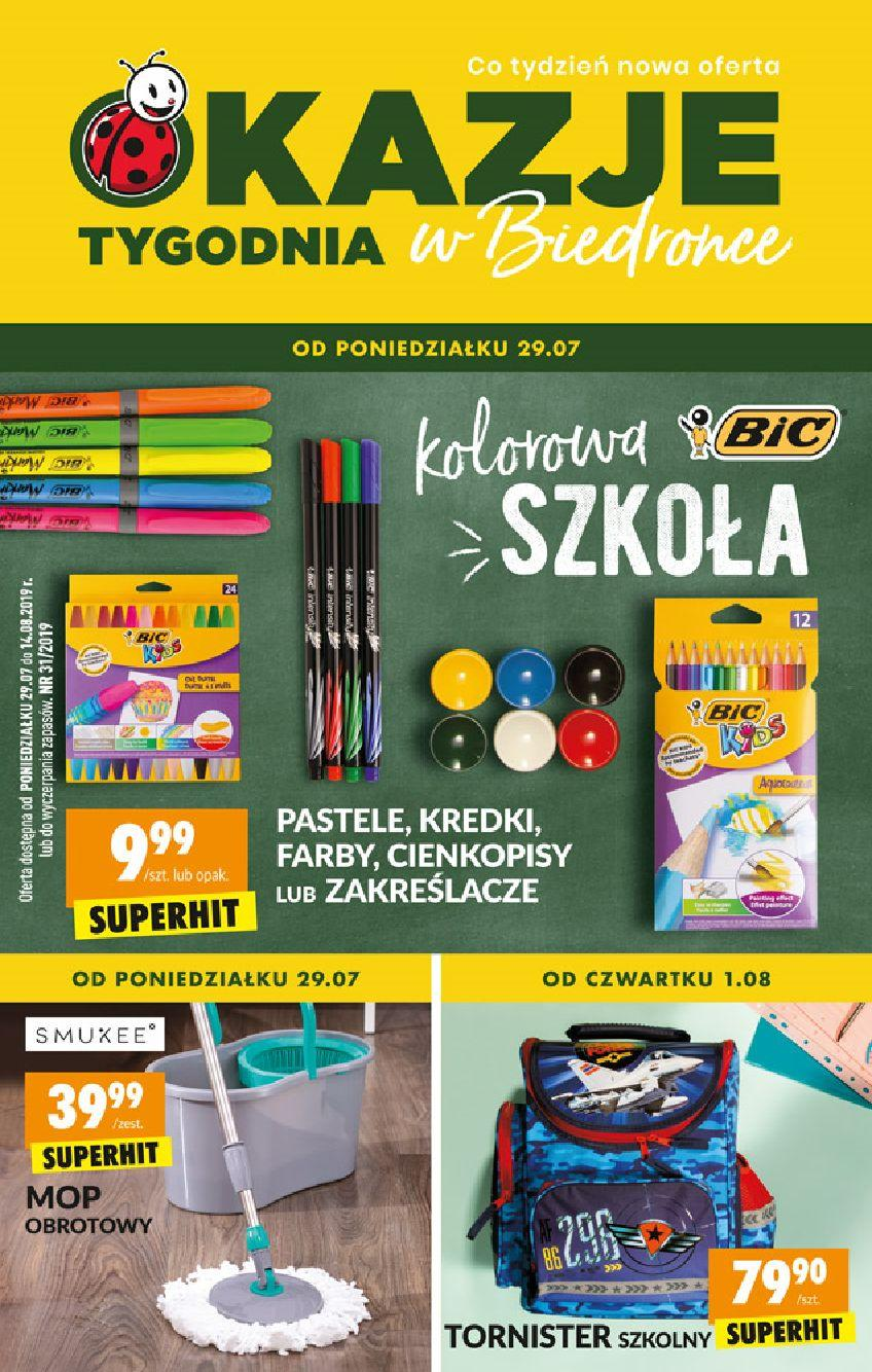 Gazetka promocyjna Biedronka do 14/08/2019 str.1