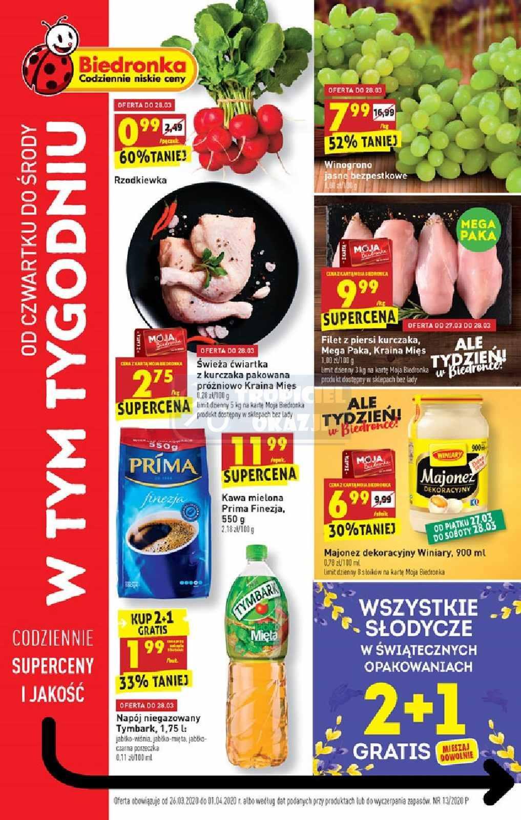 Gazetka promocyjna Biedronka do 01/04/2020 str.0