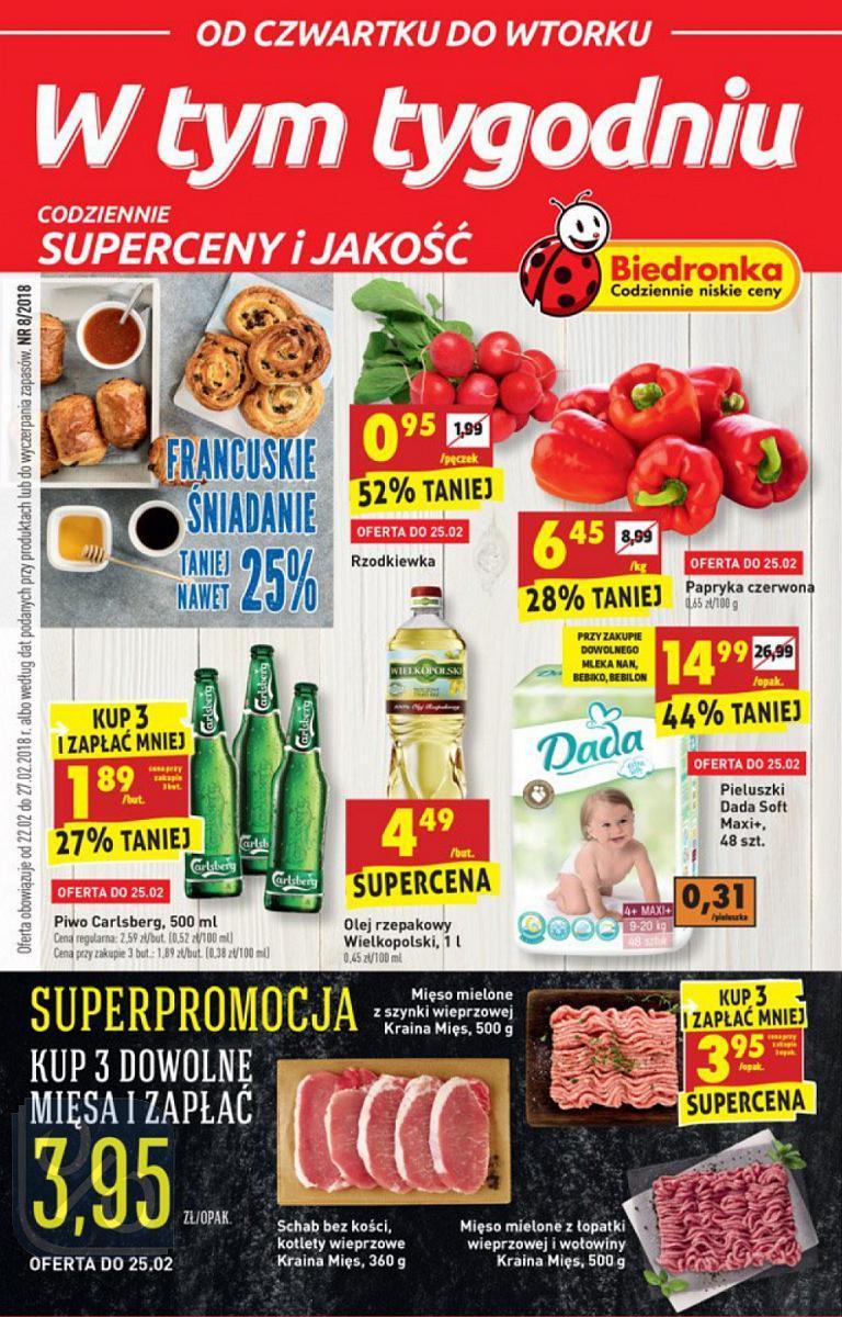 Gazetka promocyjna Biedronka do 28/02/2018 str.0