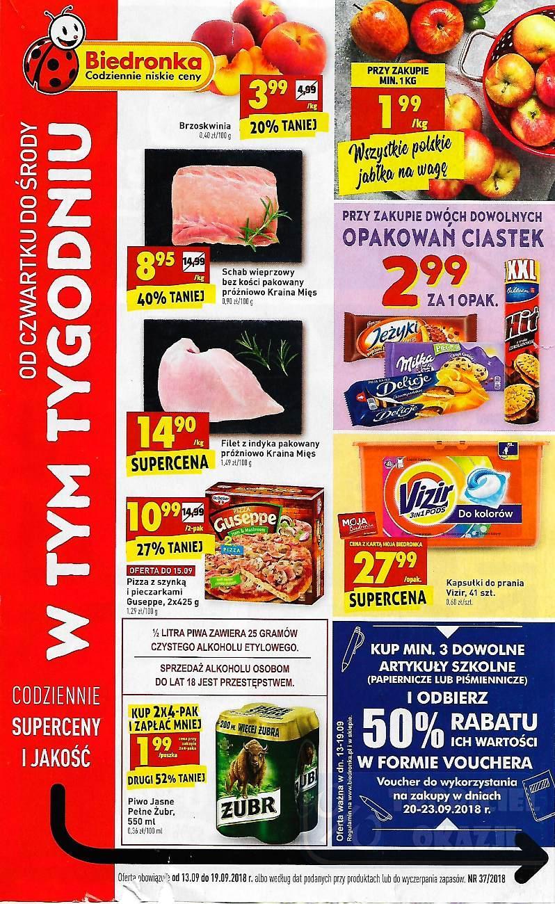 Gazetka promocyjna Biedronka do 19/09/2018 str.0
