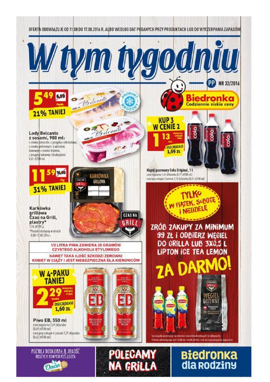 Gazetka promocyjna Biedronka do 17/08/2016 str.0