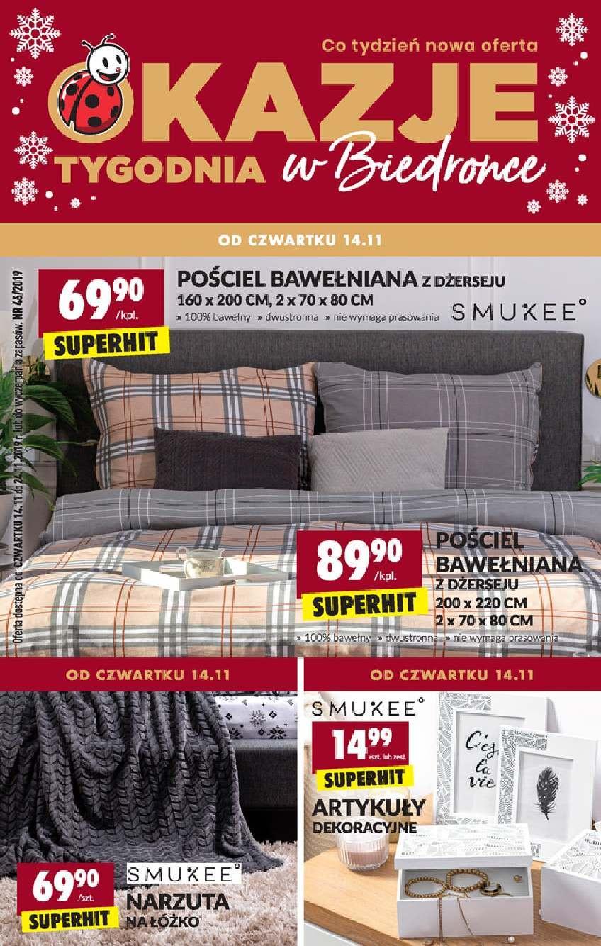 Gazetka promocyjna Biedronka do 23/11/2019 str.1