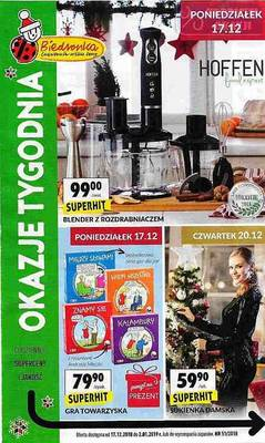 Biedronka gazetka - od 17/12/2018 do 02/01/2019