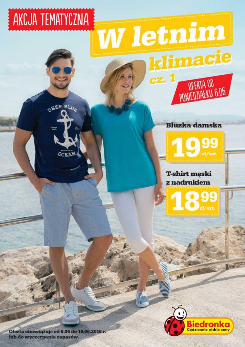 Gazetka promocyjna Biedronka do 19/06/2016 str.0