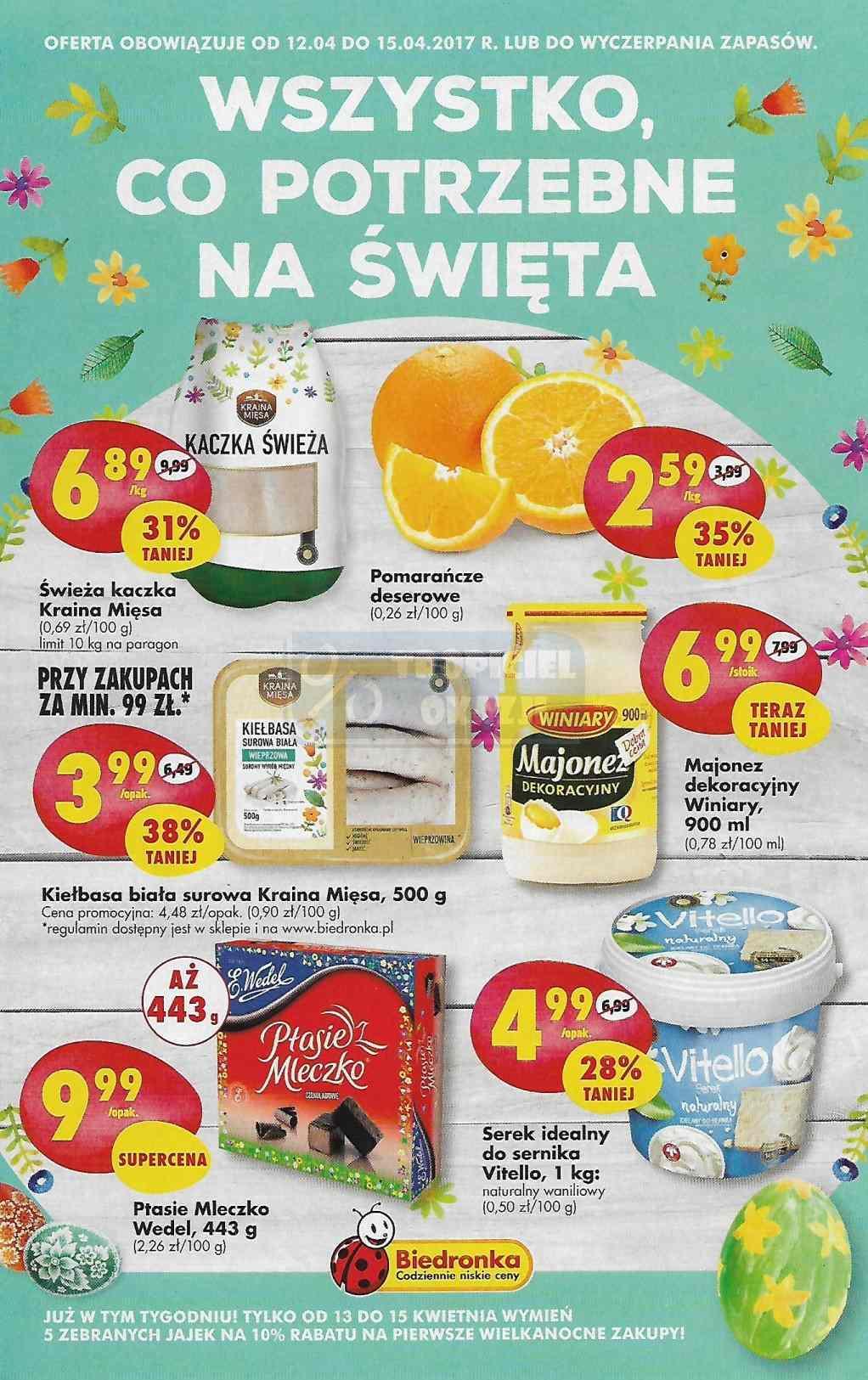Gazetka promocyjna Biedronka do 15/04/2017 str.0