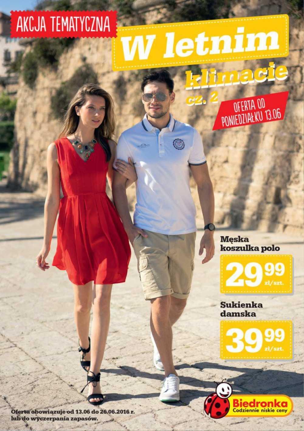 Gazetka promocyjna Biedronka do 26/06/2016 str.0