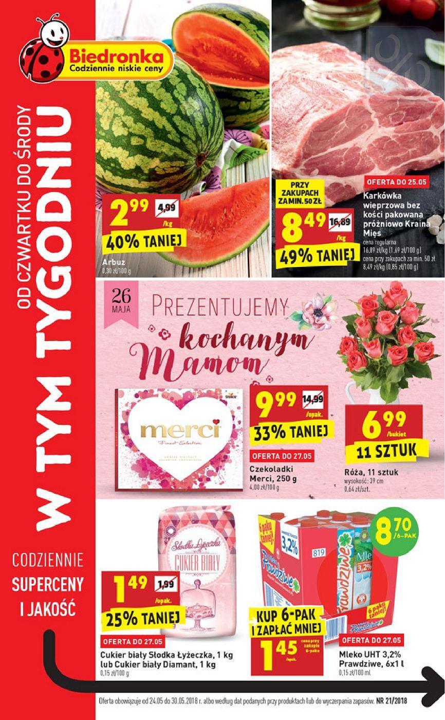 Gazetka promocyjna Biedronka do 30/05/2018 str.0