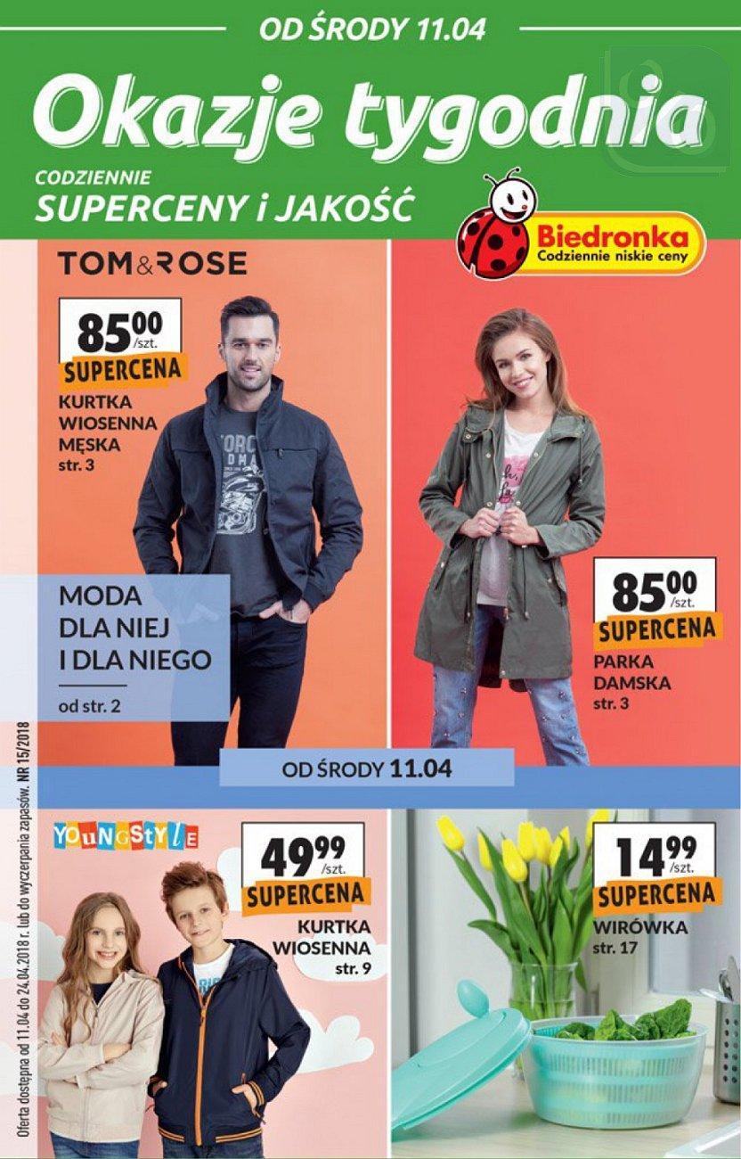 Gazetka promocyjna Biedronka do 24/04/2018 str.1