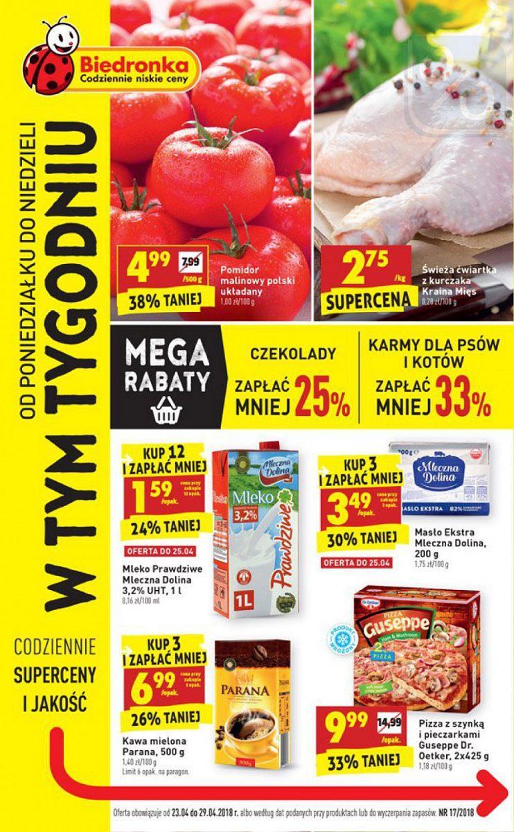 Gazetka promocyjna Biedronka do 29/04/2018 str.0