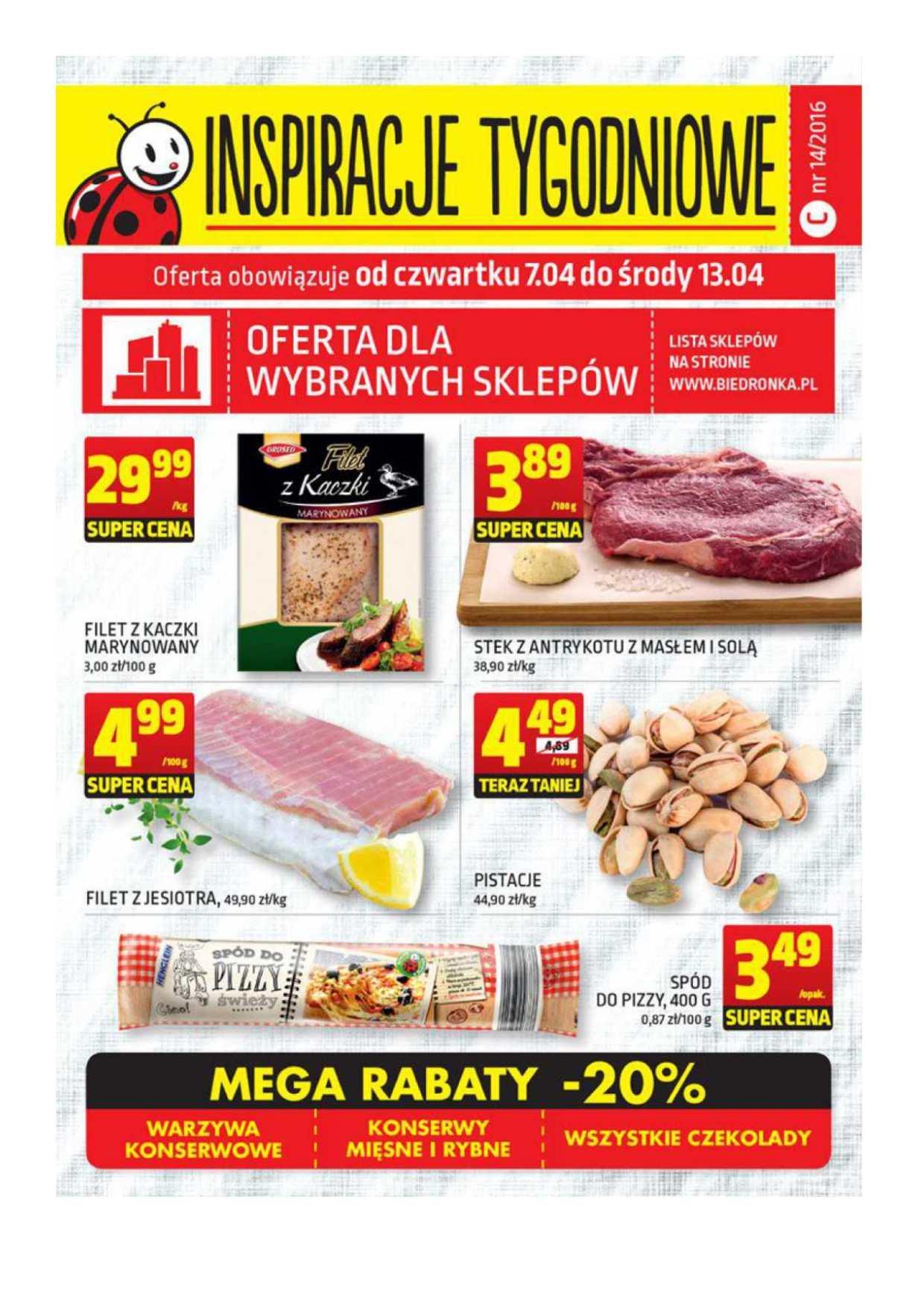Gazetka promocyjna Biedronka do 13/04/2016 str.0