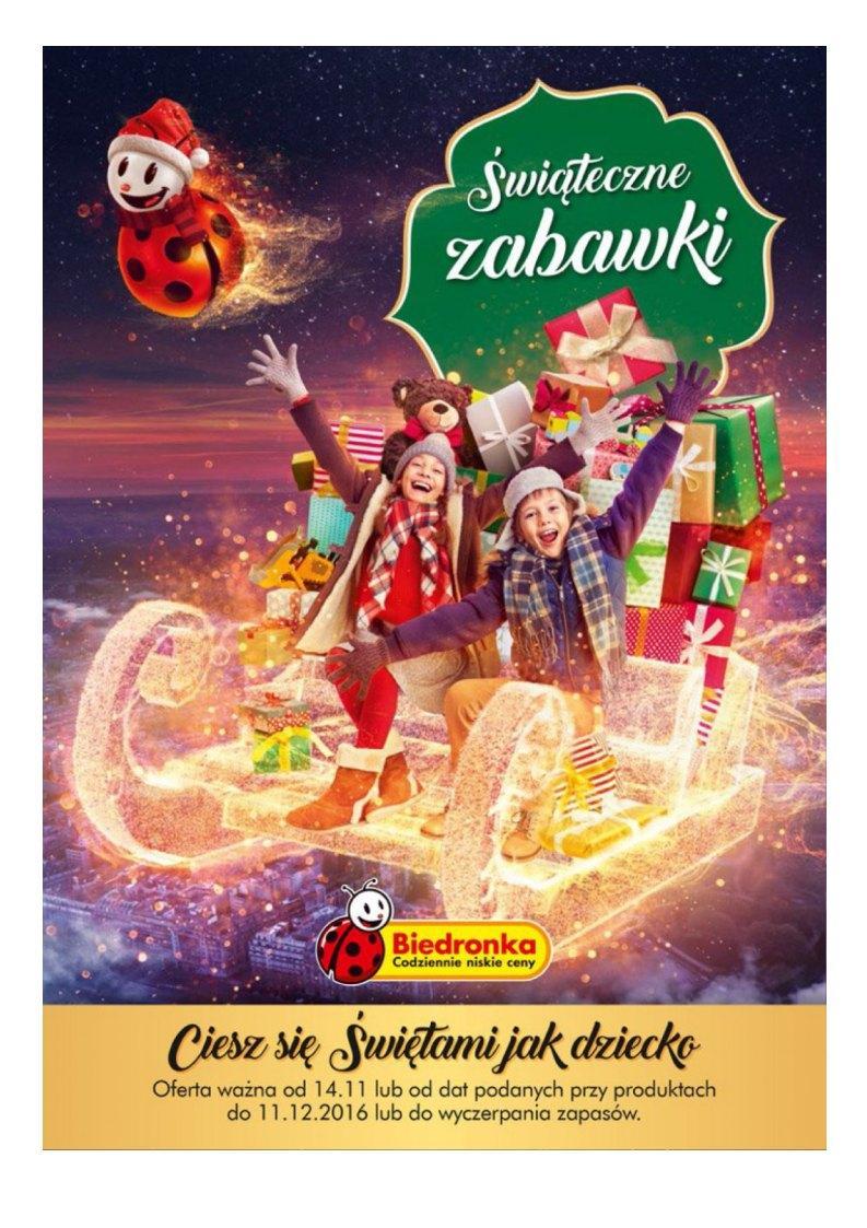 Gazetka promocyjna Biedronka do 11/12/2016 str.0