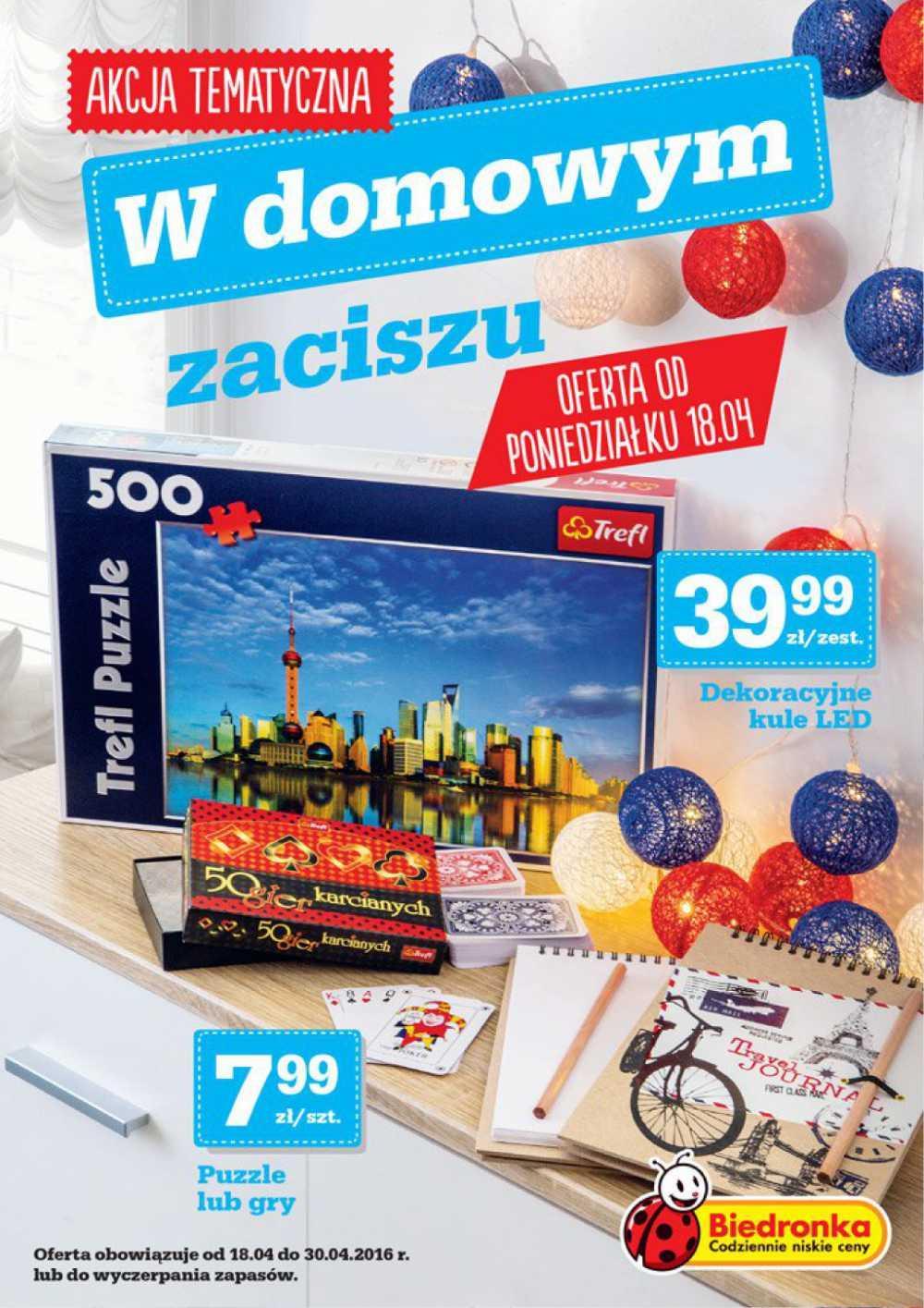 Gazetka promocyjna Biedronka do 30/04/2016 str.0