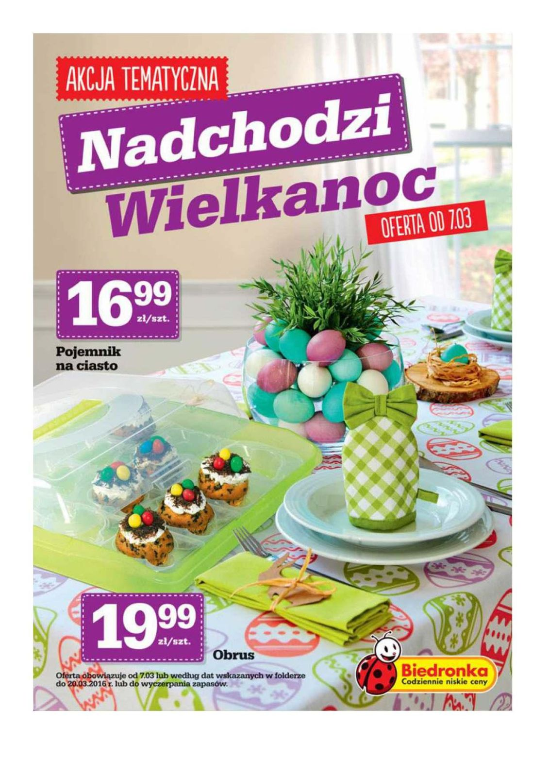 Gazetka promocyjna Biedronka do 20/03/2016 str.0