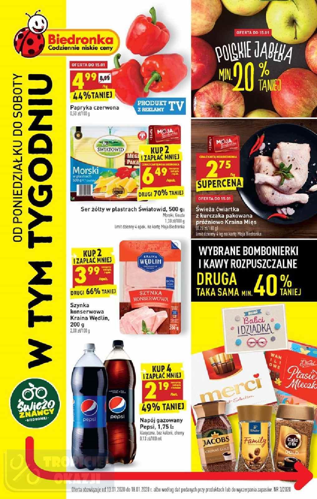 Gazetka promocyjna Biedronka do 18/01/2020 str.1