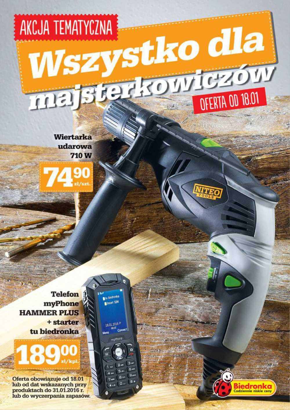 Gazetka promocyjna Biedronka do 31/01/2016 str.0