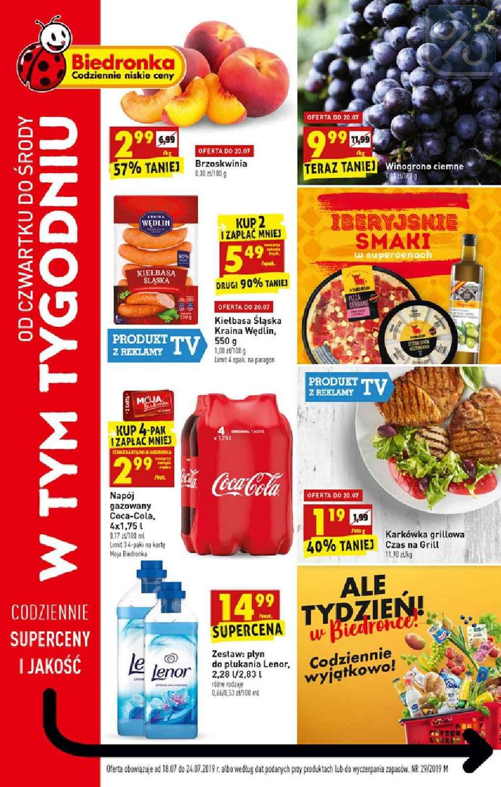 Gazetka promocyjna Biedronka do 24/07/2019 str.1
