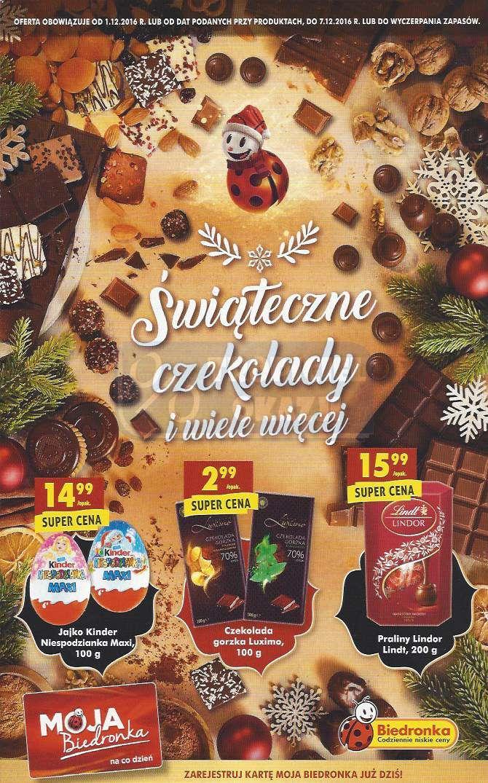 Gazetka promocyjna Biedronka do 07/12/2016 str.0