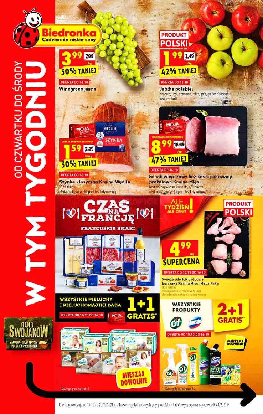 Gazetka promocyjna Biedronka do 20/10/2021 str.1