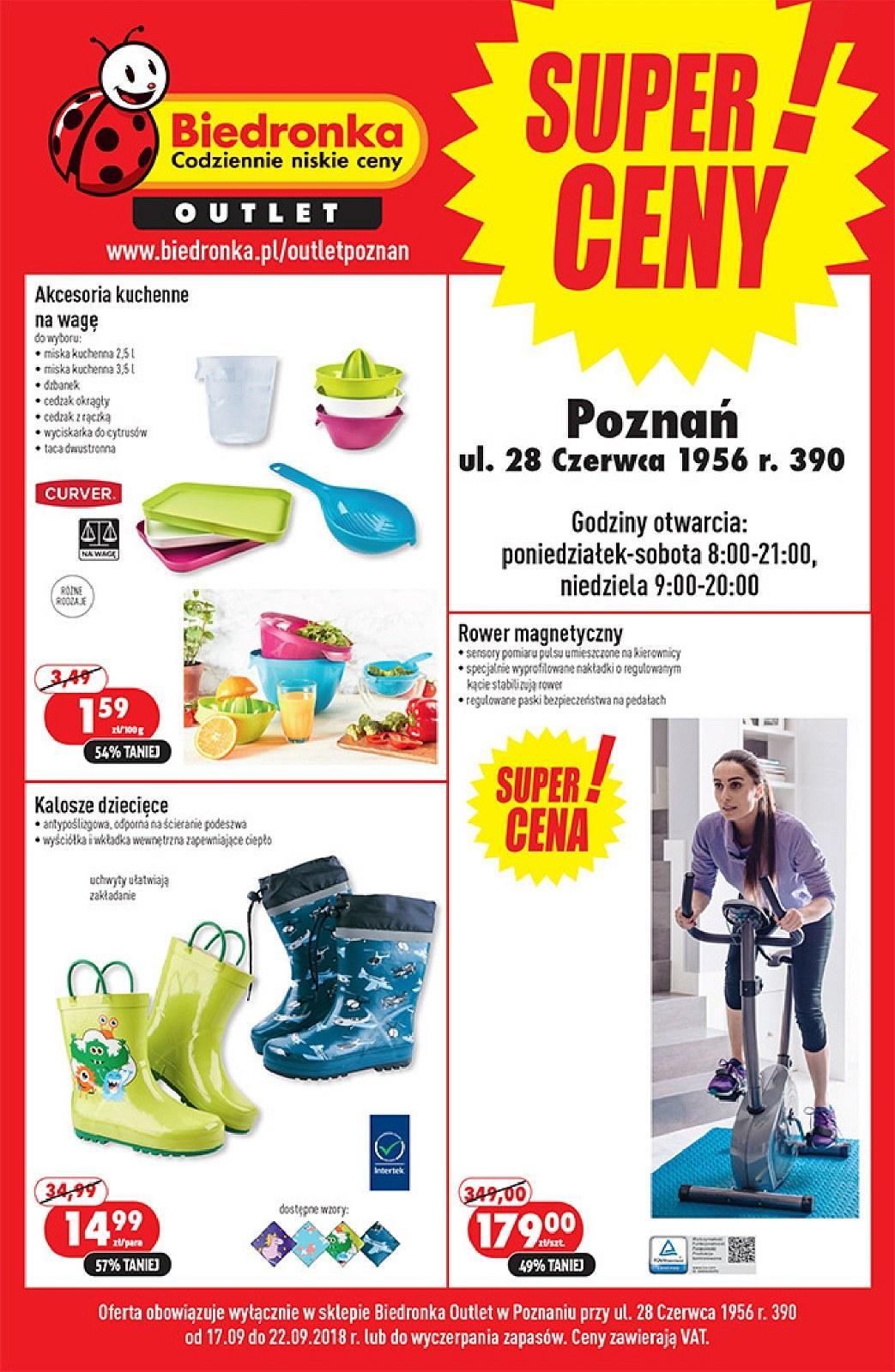 Gazetka promocyjna Biedronka Outlet do 22/09/2018 str.1