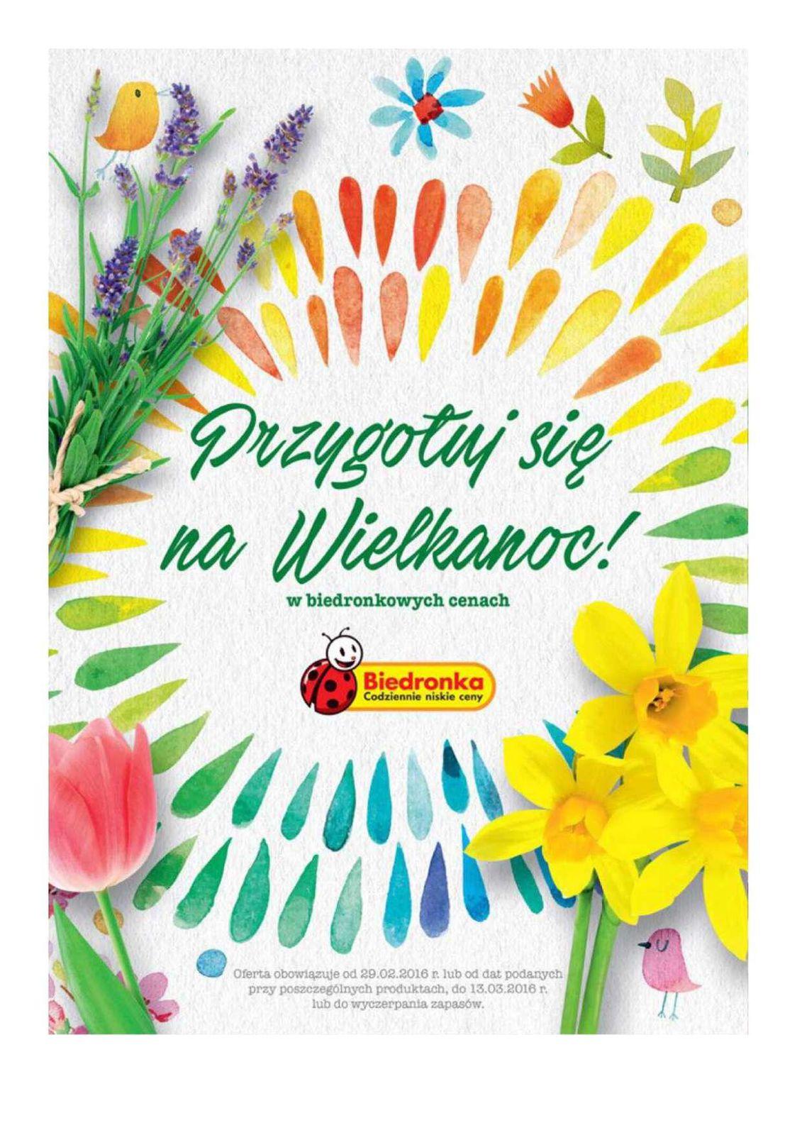 Gazetka promocyjna Biedronka do 13/03/2016 str.0