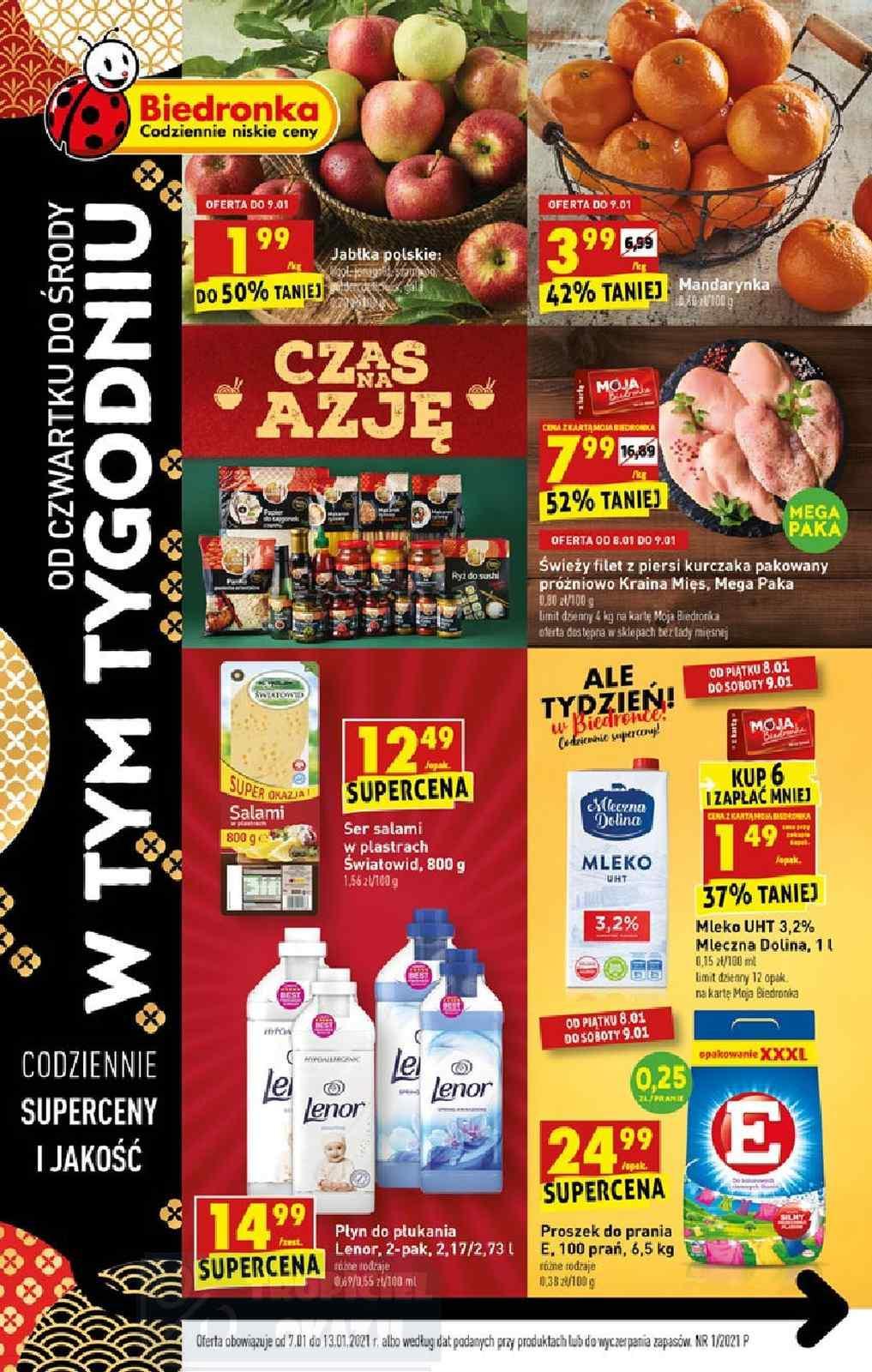 Gazetka promocyjna Biedronka do 13/01/2021 str.1