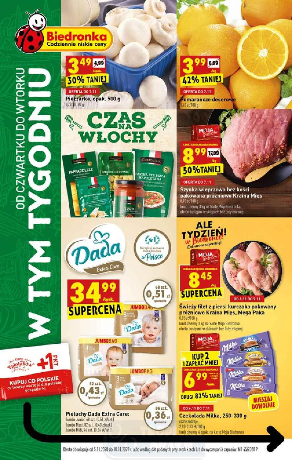 Gazetka promocyjna Biedronka do 11/11/2020 str.1