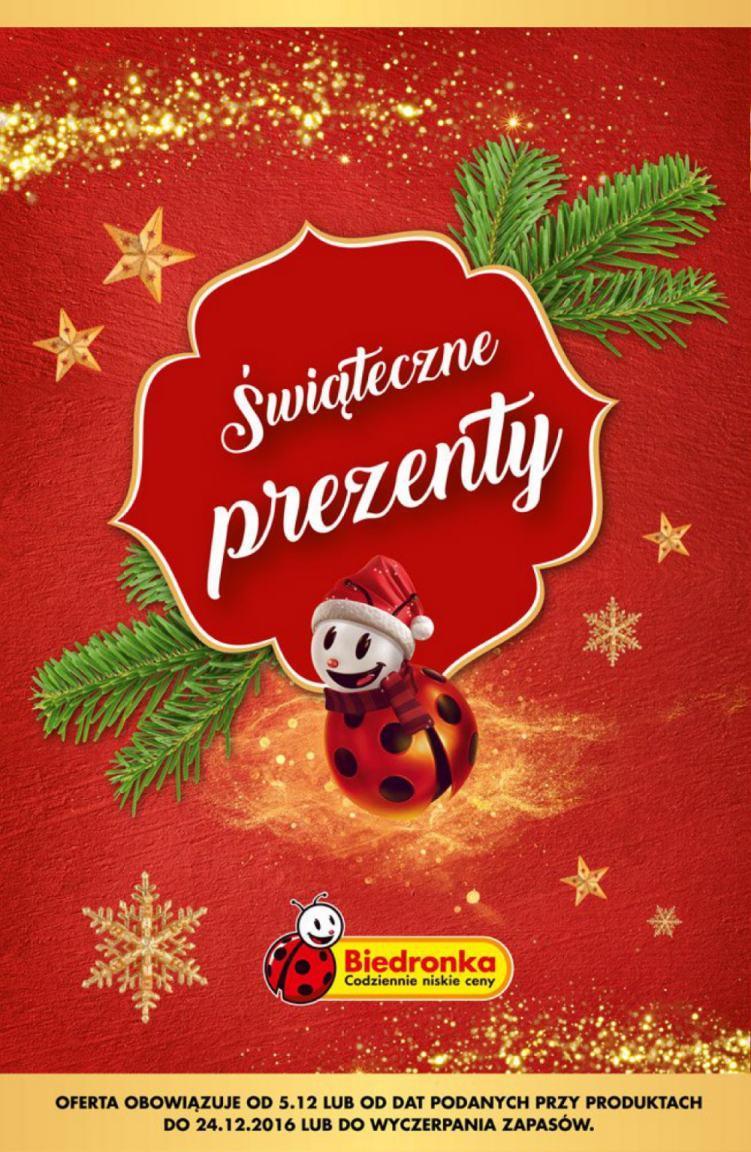 Gazetka promocyjna Biedronka do 24/12/2016 str.0