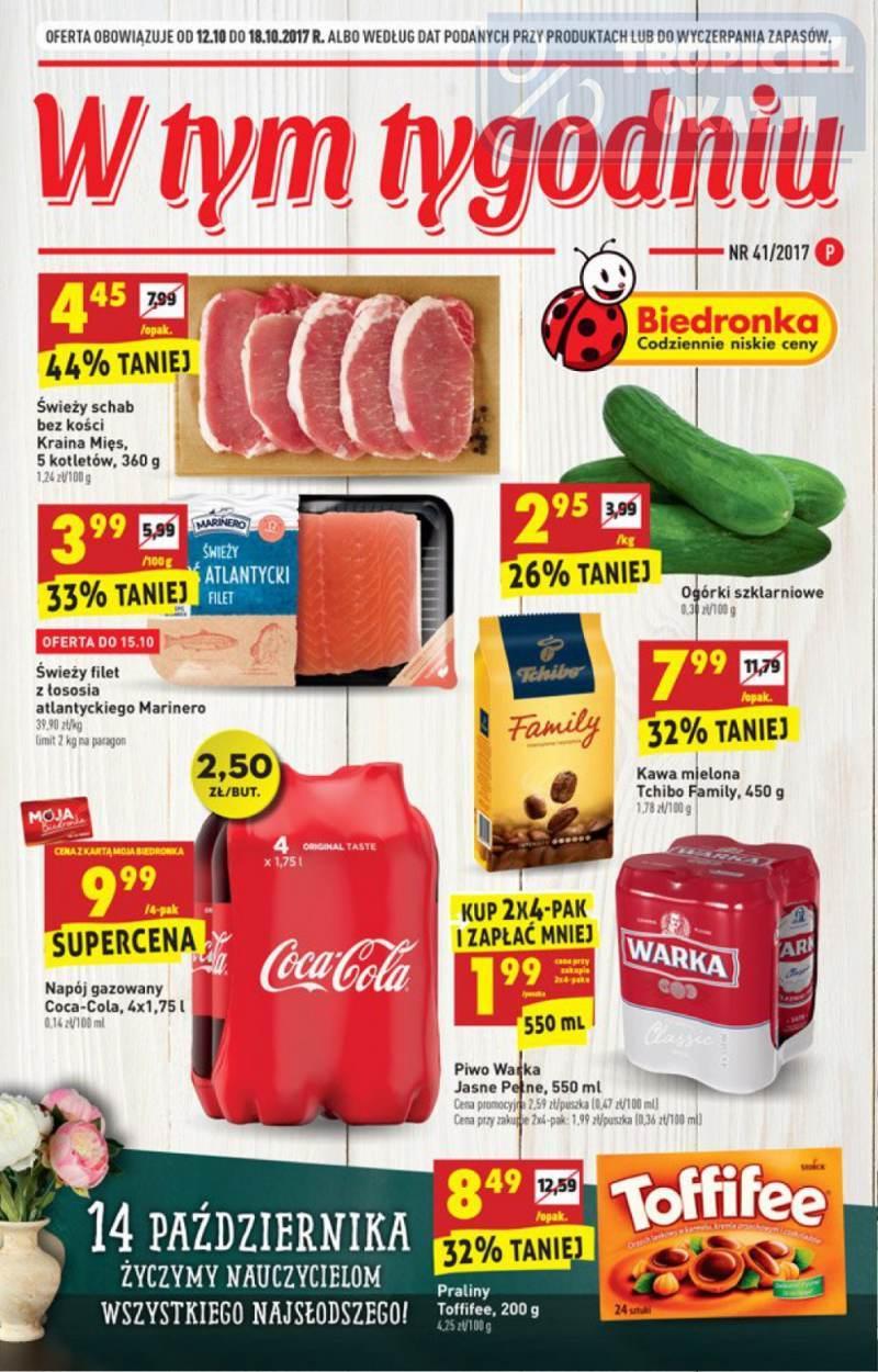 Gazetka promocyjna Biedronka do 18/10/2017 str.0