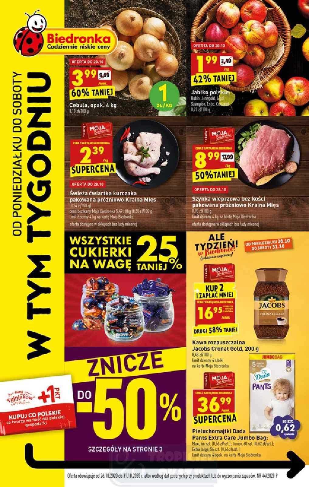 Gazetka promocyjna Biedronka do 31/10/2020 str.1