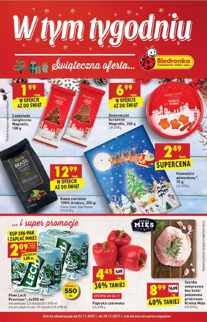 Gazetka promocyjna Biedronka do 29/11/2017 str.0