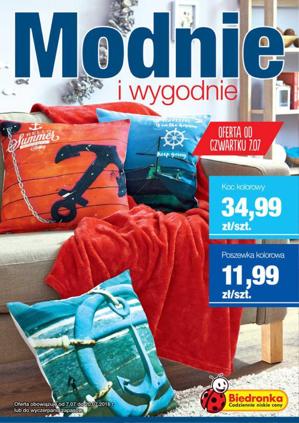 Gazetka promocyjna Biedronka do 20/07/2016 str.0