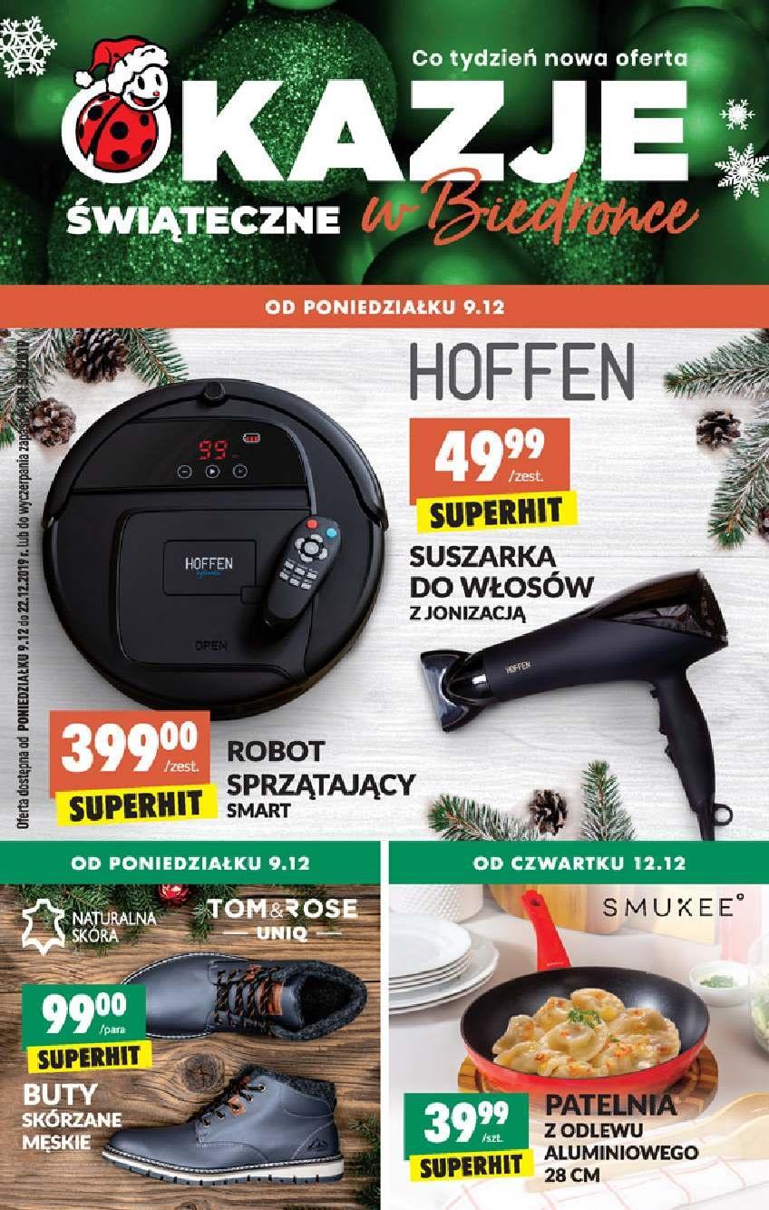 Gazetka promocyjna Biedronka do 22/12/2019 str.1