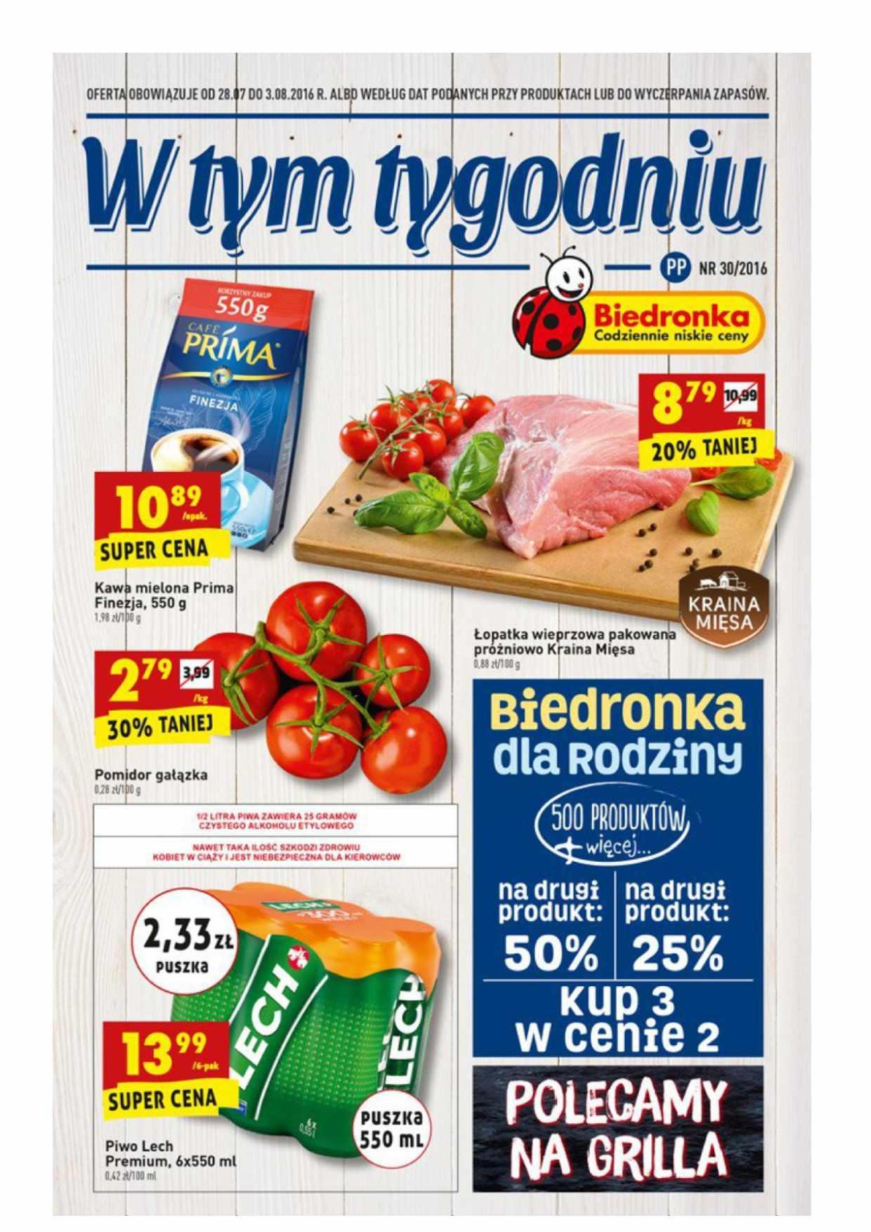 Gazetka promocyjna Biedronka do 03/08/2016 str.0